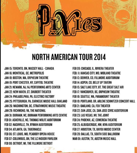 Pixies North American Tour